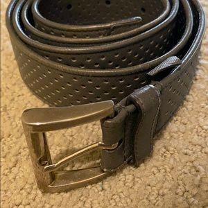 Prada Belt - grey perforated design